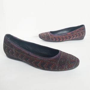Donald J. Pliner Hasin Beaded Loafers Flats 7.5
